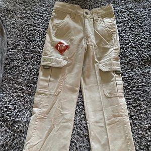 New Boys Wrangler Cargo Pants 7 Slim